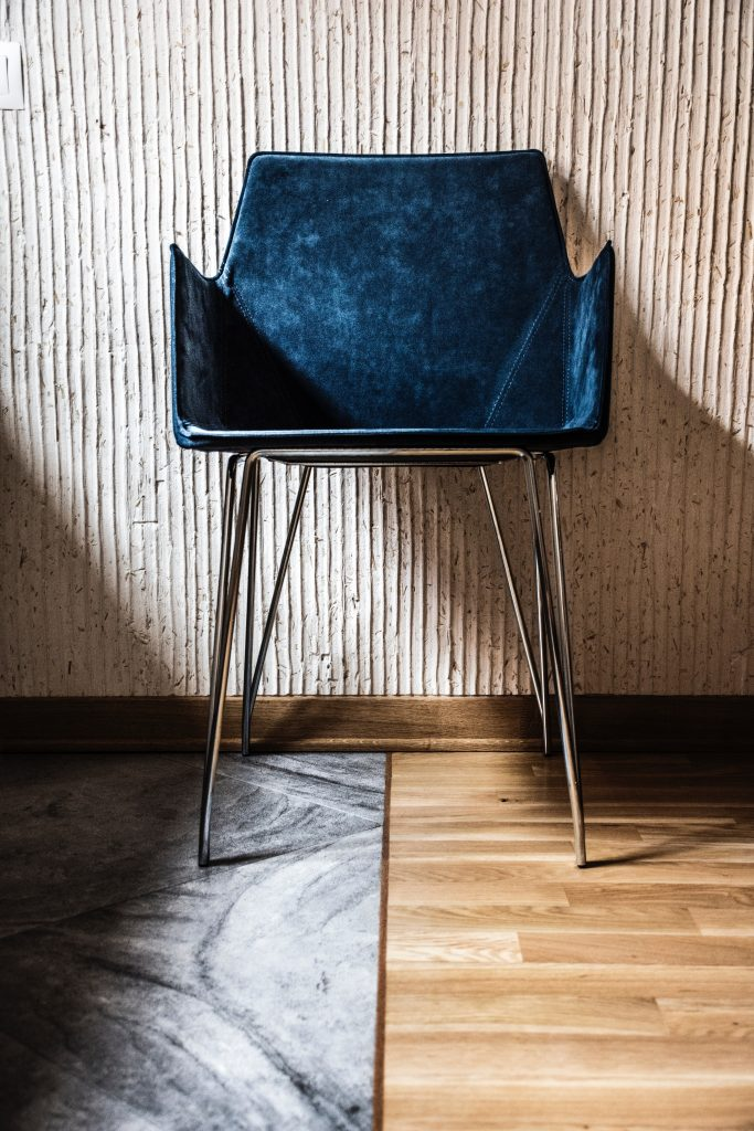 marble design wood materials leather chair