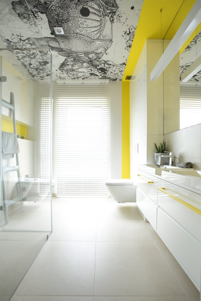 Spacious bathroom with creative design