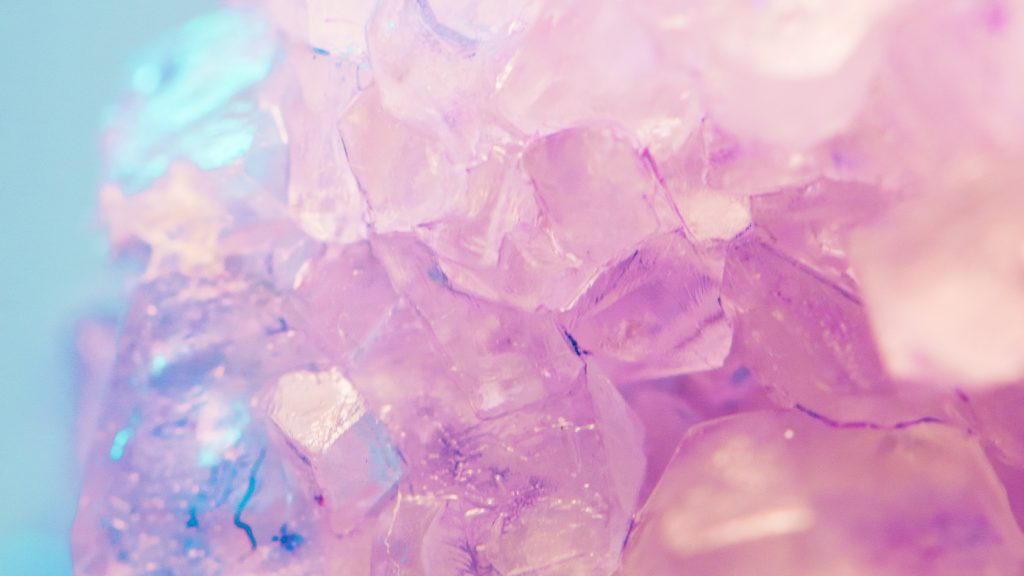 gemstone purple biege with blue background