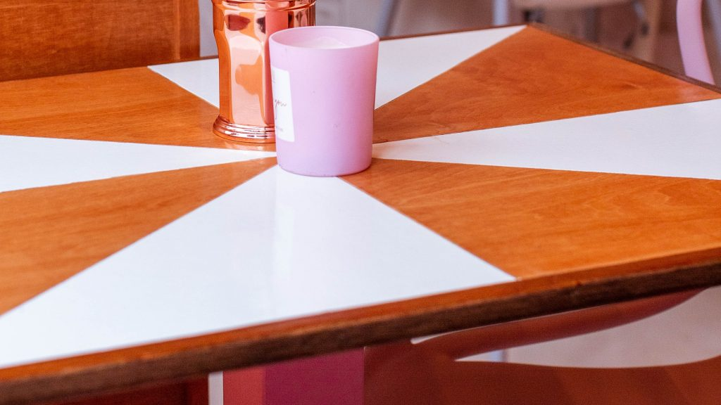 restaurant design pink and orange